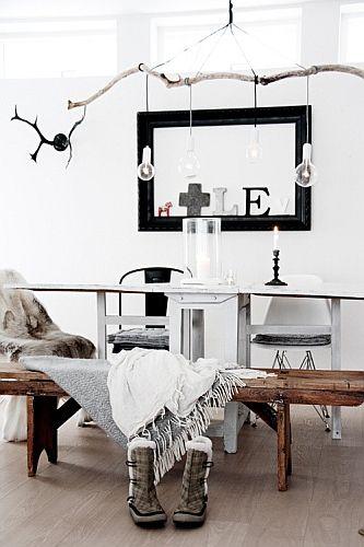 Diy branch chandelier: