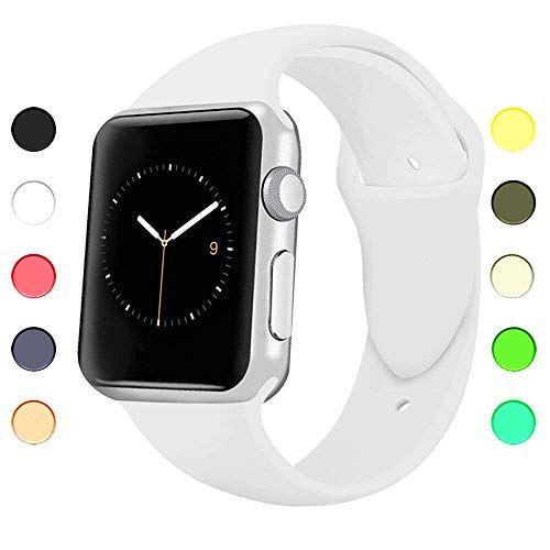 Appolis Fur Apple Watch Armband 38mm 42mm Weiches Silikon Sports Ersetzerband Uhrenarmband Smart Watch Ersatz Armbander Uhre Apple Watch Smart Watch Wearable