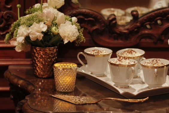 Hot chocolate perfect for welcome guests for winter wedding
