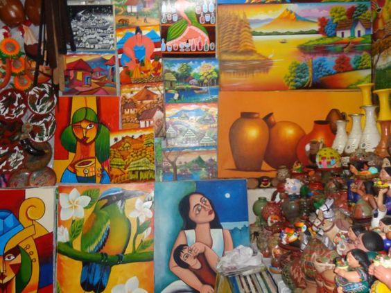 Pinturas. Hecha por manos Nicaraguenses