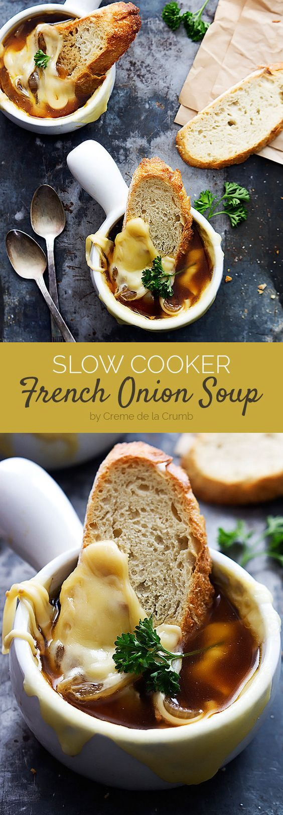 Slow Cooker French Onion Soup | Here Are 7 Weeknight Dump Dinners You Can Make In Your Slow Cooker