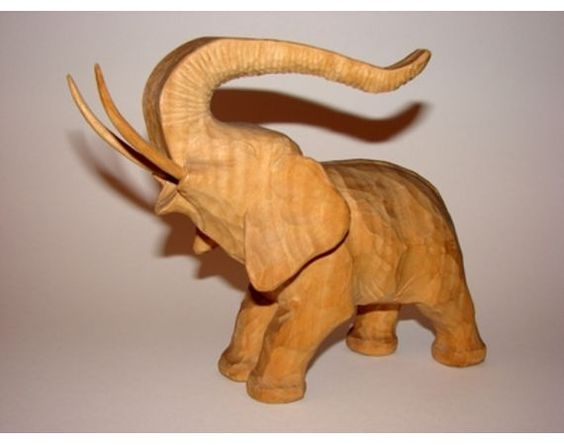 Beginner instructions for wood carving elephants