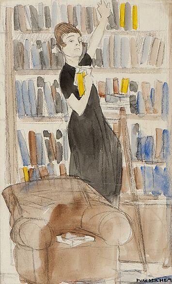 Piet van der Hem  The Librarian  Mid-20th century