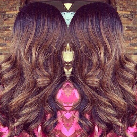 Caramel Highlighted Hair