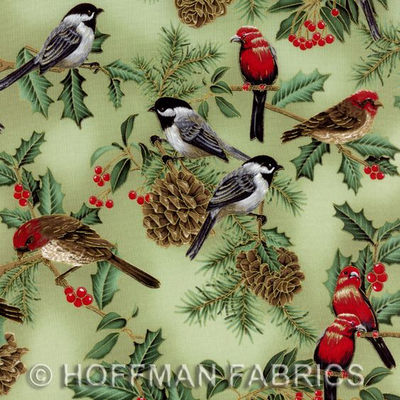 christmas quilting fabric | Quilting Fabric, Owl Quilt Fabric, Bird Fabric for Quilts, Birds Quilt ...