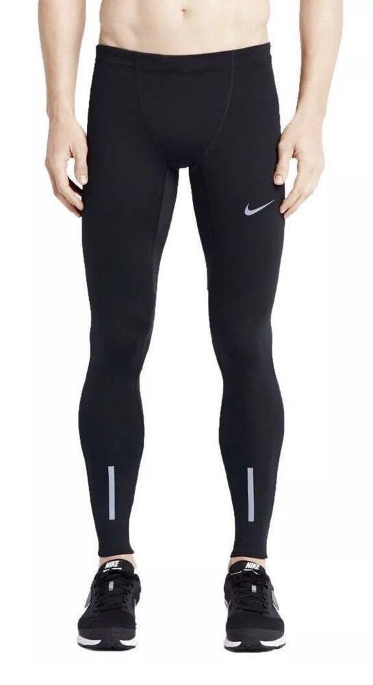 Nike Men's Power Tech Dri Fit Running Tights NEW 934097 010 ...