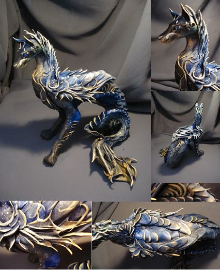Silver Fin Dog Commission by creaturesfromel.deviantart.com