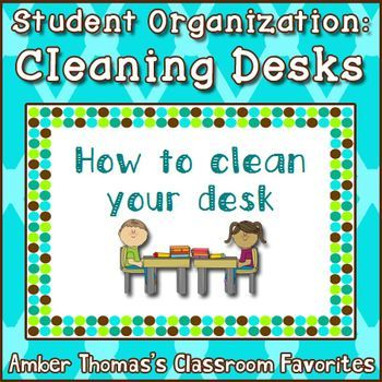 Help your students learn how to clean their desks with this illustrated instruction manual!  Free for a limited time!