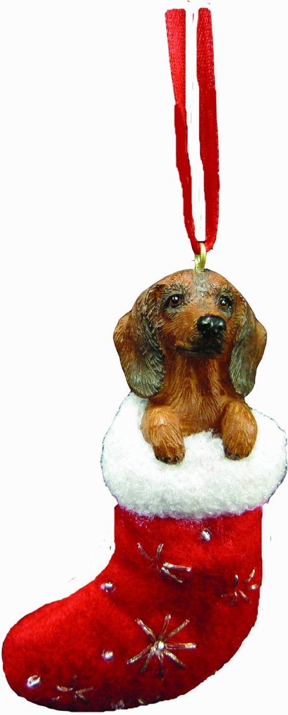 "Amazon.com: Dachshund Christmas Stocking Ornament with ""Santa's Little Pals""…"