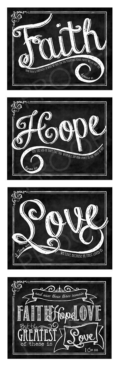 Scripture Chalk Art Prints set of four  by ToSuchAsTheseDesigns, $15.00