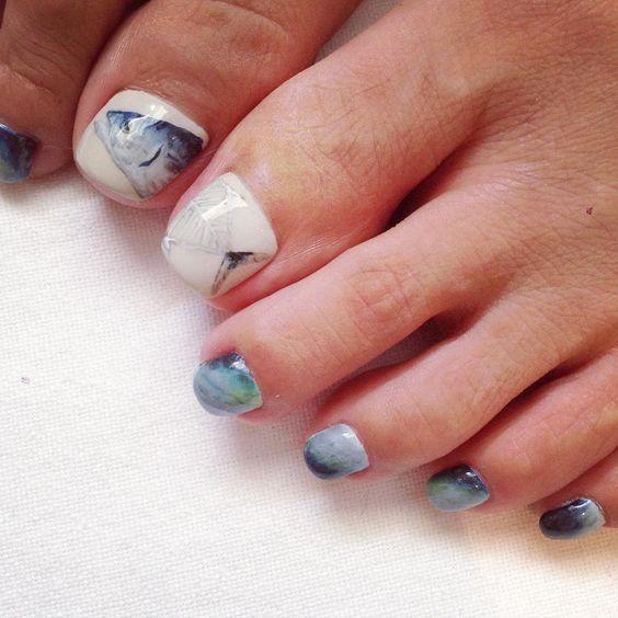 """""""#nail #pedicure #鰹"""""""