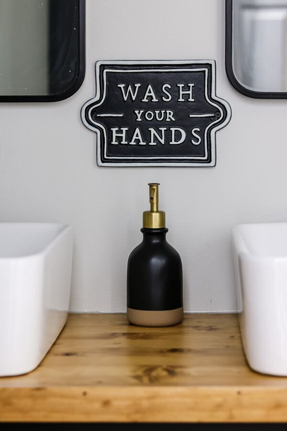 wash your hands magnolia sign