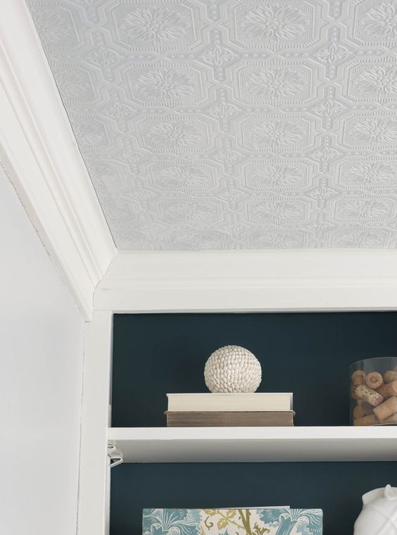 10 Textured Wallpaper Projects Kitchen ceilings, Tins