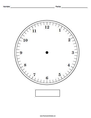 Reloj para imprimir sin manecillas google search - Reloj adhesivo de pared ...