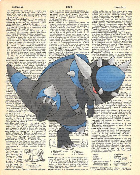 Rampardos Pokemon Dictionary Art Print by MollyMuffinsPrints