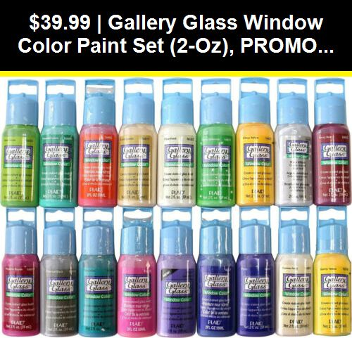 Gallery Glass Window Color Paint Set 2 Oz Promoggii Best Selling Colors Ii Paint Set Glass Window Glass Painting Kit