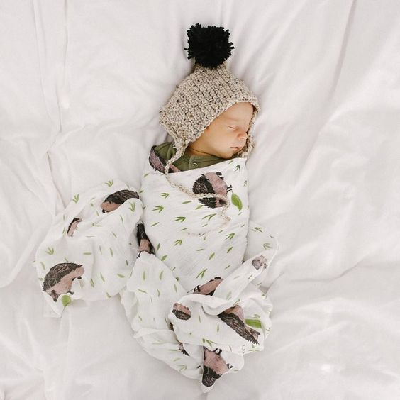 little unicorn swaddle hedgehog swaddling blanket: