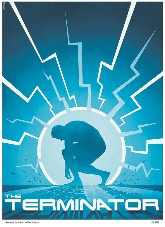 Terminator Poster Art - http://www.dravenstales.ch/terminator-poster-art/