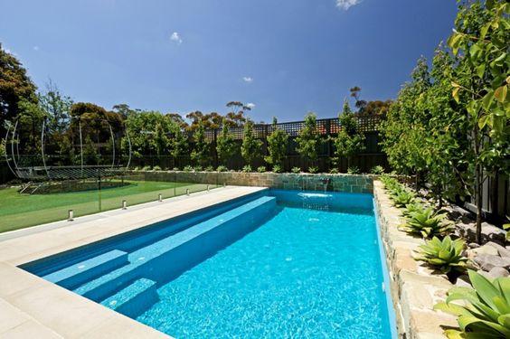 modern small rectangular swimming pool