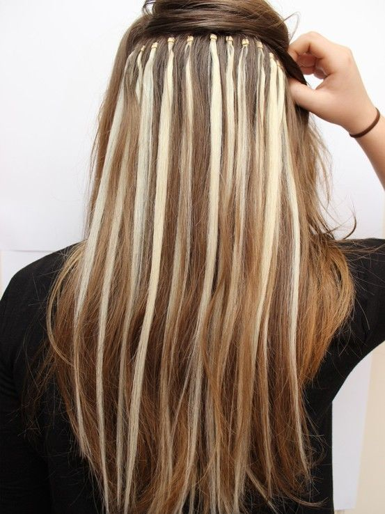 Microloops used as highlights! Hair Rich Extensions www.hairrichextensions.com.au 2013 trend blonde highlight