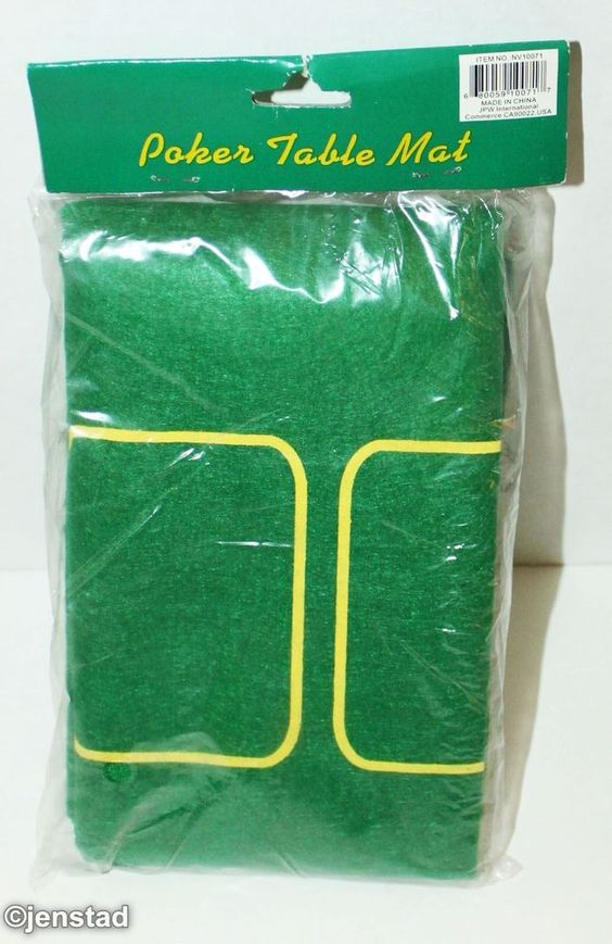 POKER CARDS TABLE MAT OR TOP COVER GREEN FLAT FELT PORTABLE & EASY STORAGE 23x34 #Generic