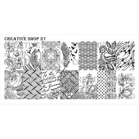 Creative Shop- Stamping Plate- 27