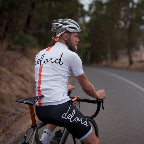 Classic White Jersey Delord Cycling 2015 Cycling Kit