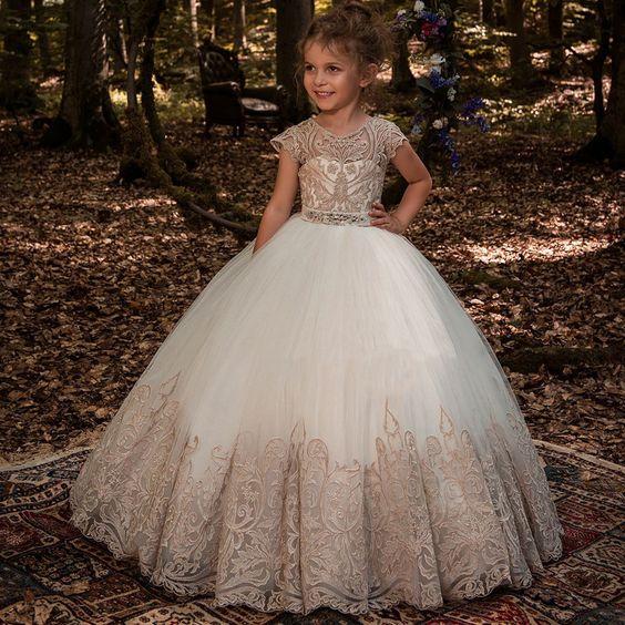 Hermosos Vestidos Para Pajecitas En Dorado Foro Moda
