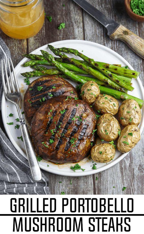 Grilled Portobello Mushroom Steaks