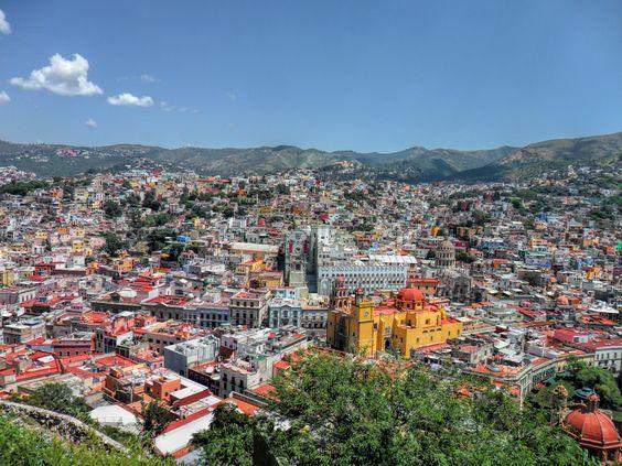 Vista panorámica de la Cd. de Guanajuato, México