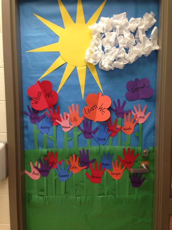 Classroom Decoration Craft ~ Spring door decoration i made crafts for kids
