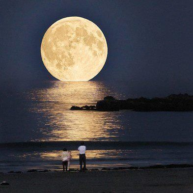 Moon over South Pointe Miami Beach
