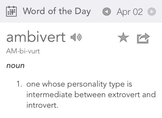 Today's word of the day is on point