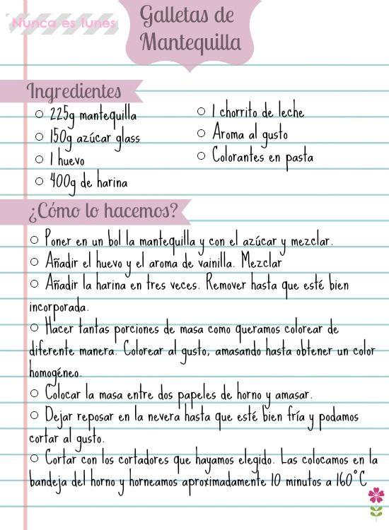 ♣ Galletas de colores receta de galletas de mantequilla