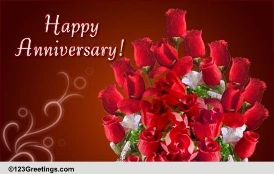 Pin By Iie Syafei On Animation Gif Wedding Anniversary Cards Happy Anniversary 1st Anniversary Cards