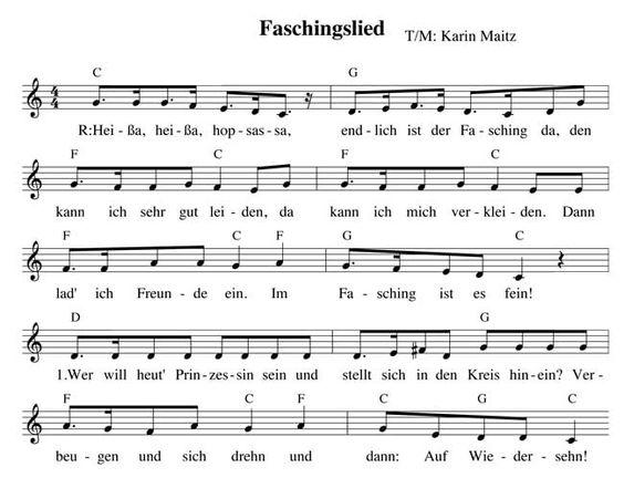 Kindergarten Fasching Faschingslied