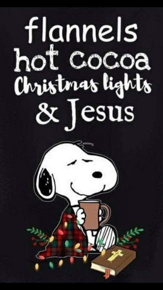Flannels Hot Chocolate Chriatmas Lights And Jesus Peanuts Christmas Snoopy Christmas Snoopy Love