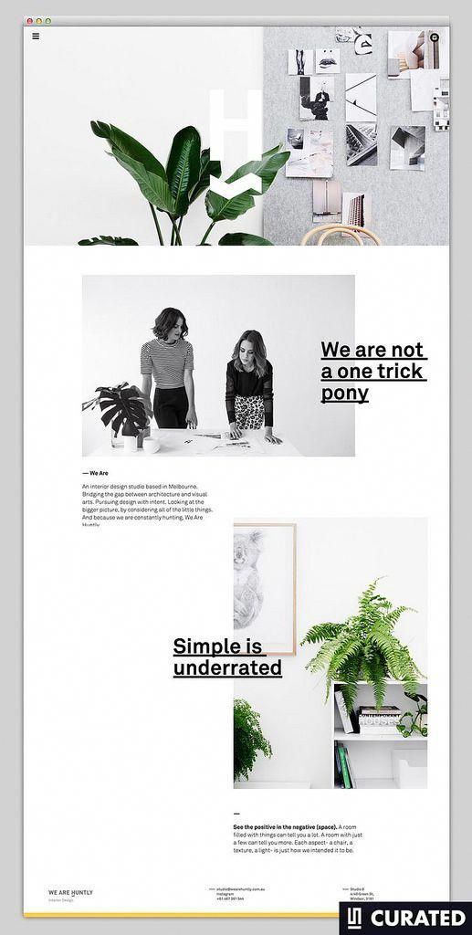 Minimal Website Layout With Simple Typography For The Small Business Owner Webdesign Webdesigninspiratio Beautiful Web Design Layout Design Portfolio Design