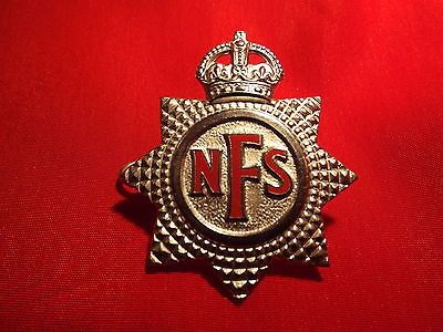 Ww2 british #national fire service #white #metal and enamel cap badge ,  View more on the LINK: http://www.zeppy.io/product/gb/2/222196233440/