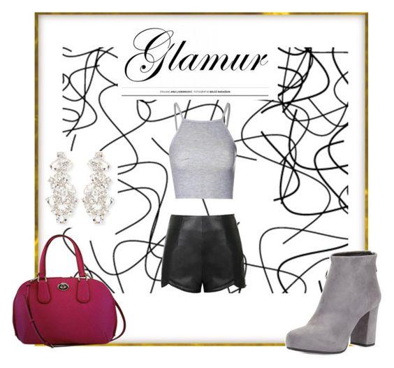 """prada on grey"" by amii-amalia ❤ liked on Polyvore featuring Ally Fashion, Prada, Coach, Glamorous and Kate Spade"