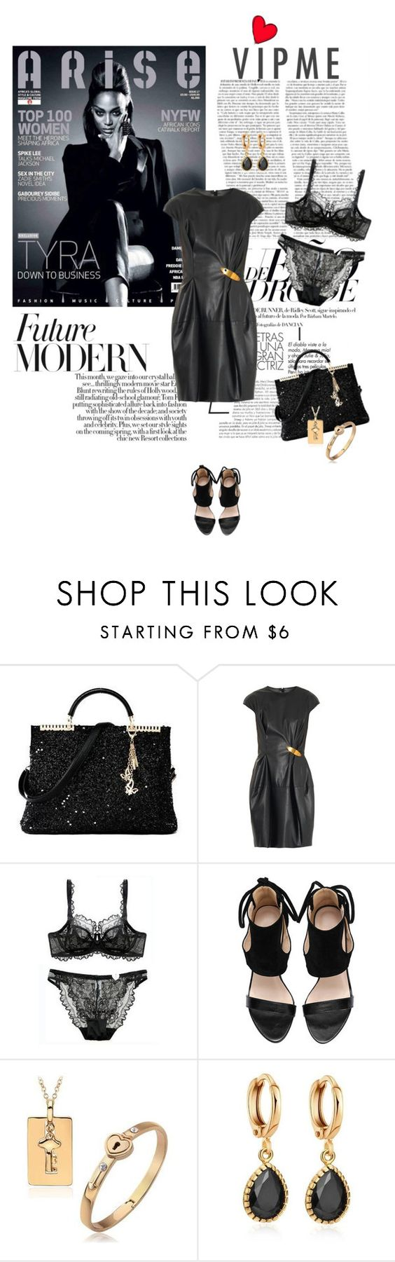 """""""LBD with VIPme Accessories"""" by lacas ❤ liked on Polyvore featuring November, Lanvin, women's clothing, women, female, woman, misses, juniors and vipme"""