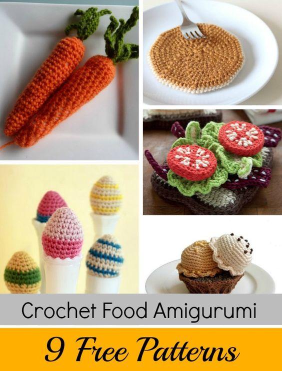 Amigurumi Food : How to crochet, Amigurumi and Crochet food on Pinterest