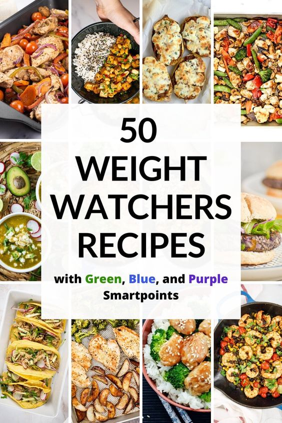 50 Weight Watchers Recipes (with Green, Blue, and Purple Smartpoints)