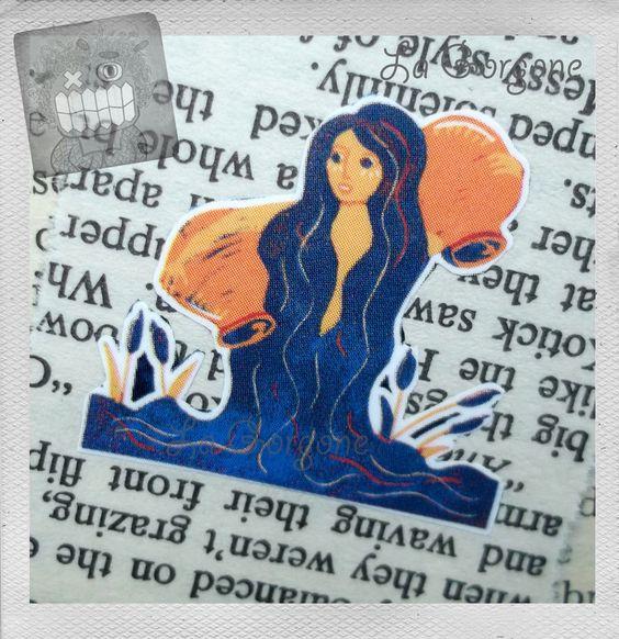 L'ère du Verseau... Marque page. Recyclage par la Gorgone. : Marque-pages par la-gorgone