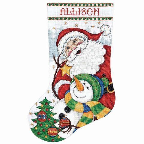 Design Works Snowman with Stockings Stocking Kit