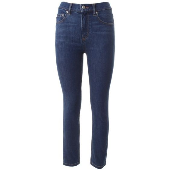 Marc by Marc Jacobs Ella Cropped Skinny Jeans ($115) ❤ liked on Polyvore featuring jeans, blu, skinny leg jeans, marc by marc jacobs skinny jeans, zipper skinny jeans, skinny fit jeans and zipper jeans