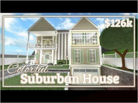 Roblox Bloxburg Cozy Mountain Mansion 105k How To Get Oct 20 2019 Bloxburg Colorful Suburban House Speed Build Youtube In 2020 Suburban House Two Story House Design Modern Family House