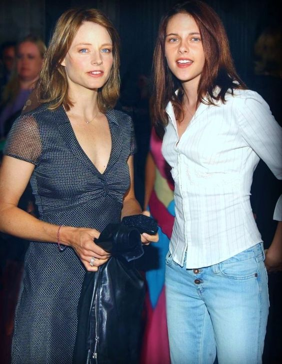 Kris at age 15 with Jodie Foster