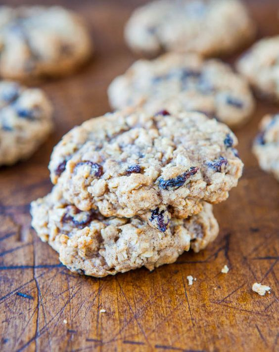 Thick and Chewy Oatmeal Raisin Cookies | Recipe | Oatmeal, Ground ...