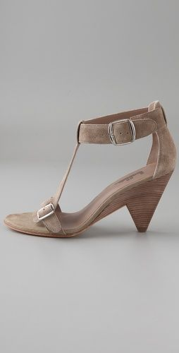 Belle by Sigerson Morrison Suede T Strap Sandals (a nice neutral to pair with all the bright colours this season) $265.92